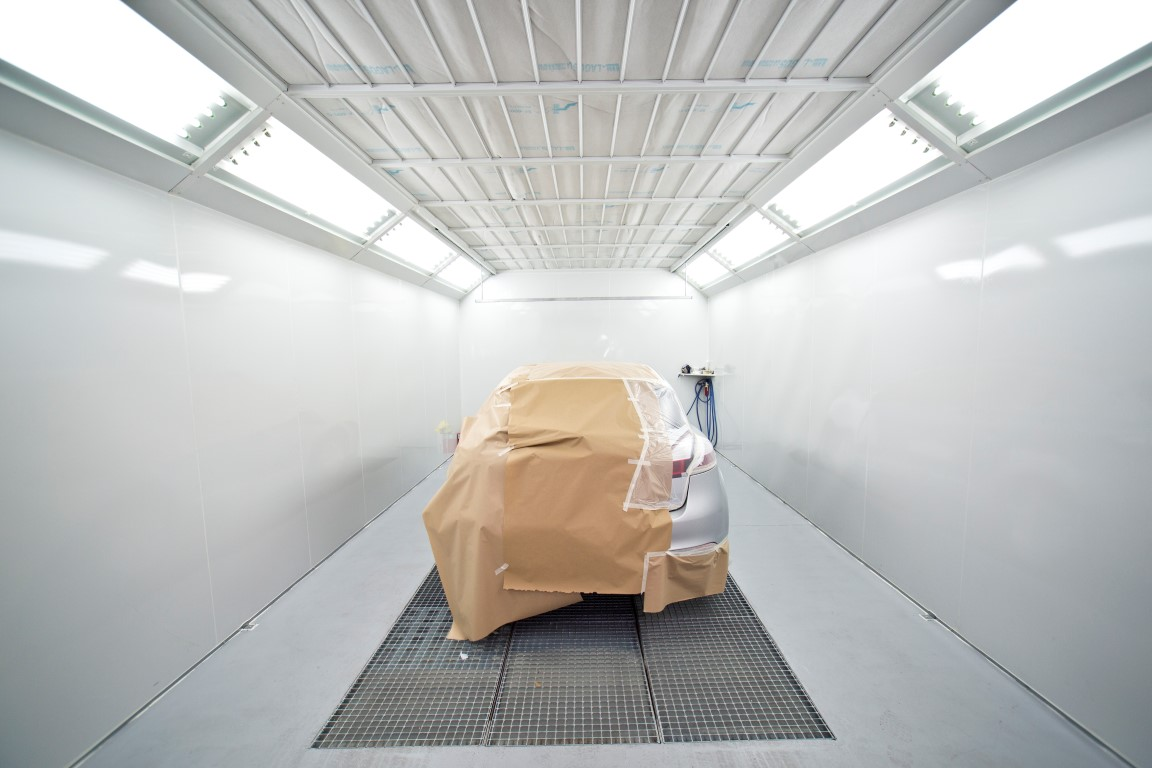 Inside a Spray Booth