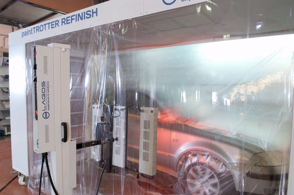 paintrotter mobile spray booth and infrared dryer