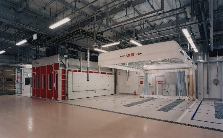 Concepto de pintura rápida: AP + Cabina Euro con traslación sobre railes