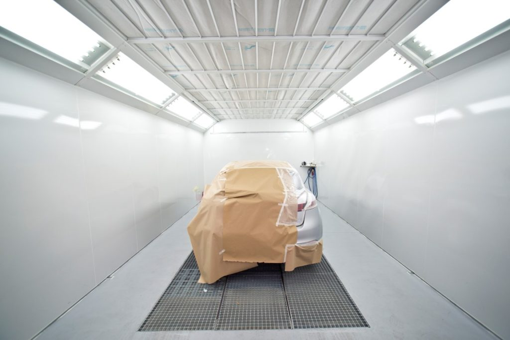 Inside a Spray Booth