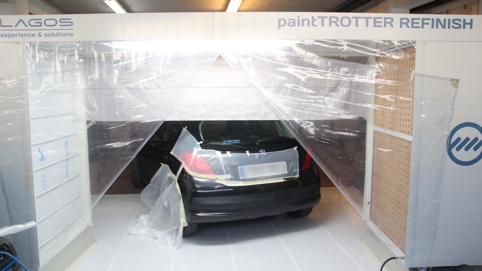 Enmascarado de coche para pintar piezas plásticas