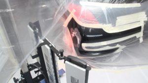Secado infrarrojos en coche