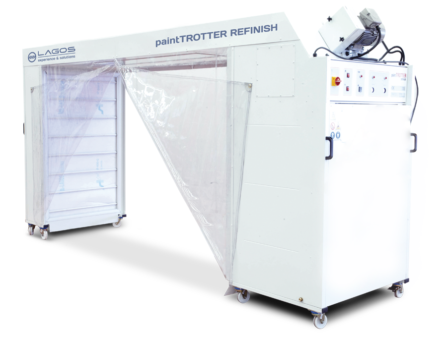 mobile spray booth for car bodyshops